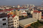 Phnom Penh skyline with Camko housing development in the background. December 2011
