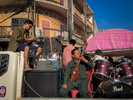 Rock musician performing at wedding, Savannakhet