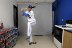 Toronto Blue Jays' Chris Colabello poses during the team's photo day in Dunedin, Fla.