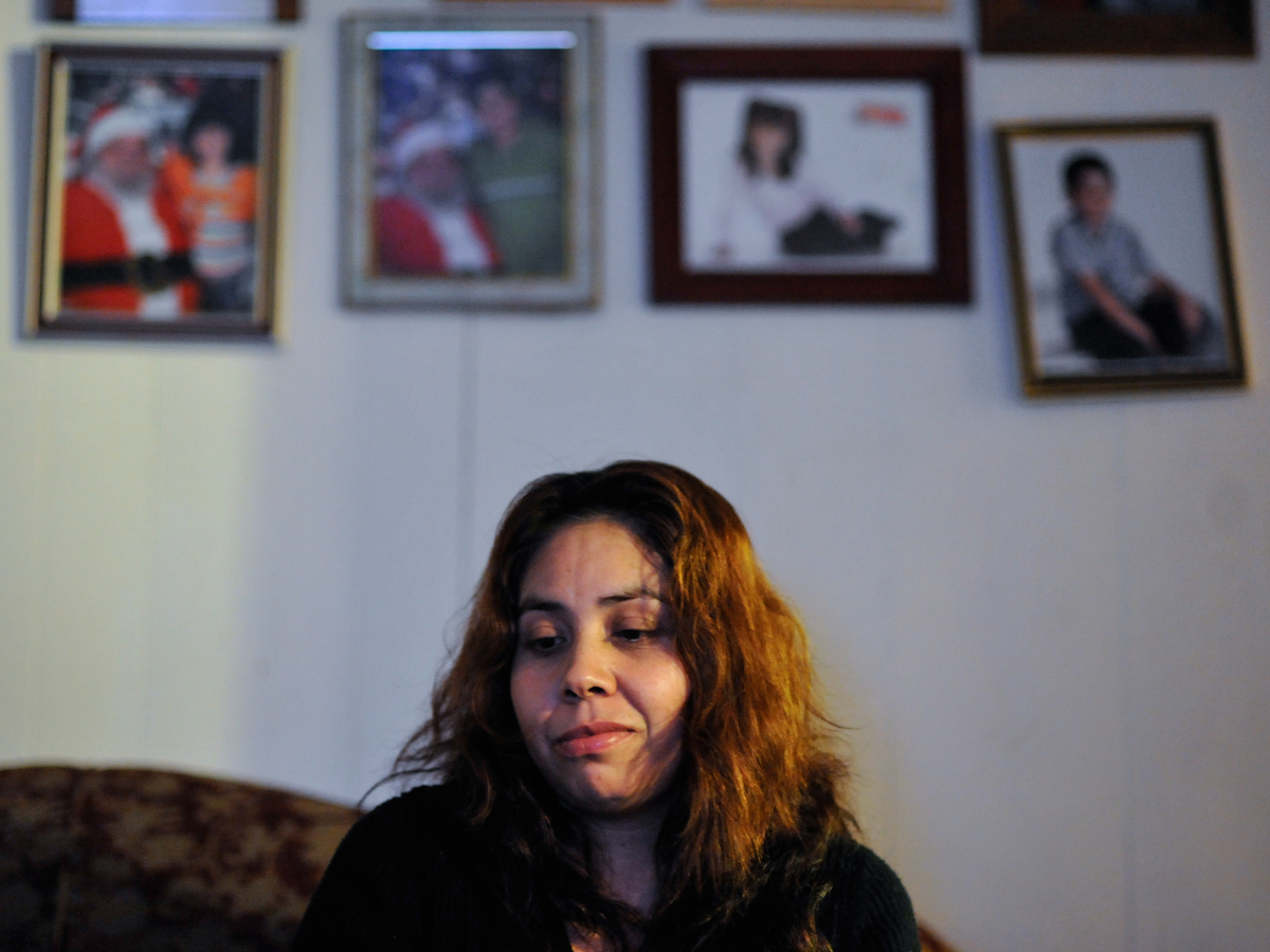 Sandra Juarez, an undocumented immigrant from Durango, Mexico, pauses while speaking about Jose Arreola, the father of her four children who was deported on June 15, 2011, at her home in Athens, Ga., Monday, Feb. 4, 2013. (AJ Reynolds/The Athens Banner-Herald)