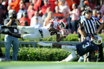 A pass falls incomplete intended for Georgia wide receiver Malcolm Mitchell (26) while Auburn defensive back Jonathan Jones (3) defends during the second half of an NCAA college football game between Georgia and Auburn on Saturday, Nov. 14, 2015, in Auburn, Ala. Georgia won 20-13. (AJ Reynolds/Staff, @ajreynoldsphoto)