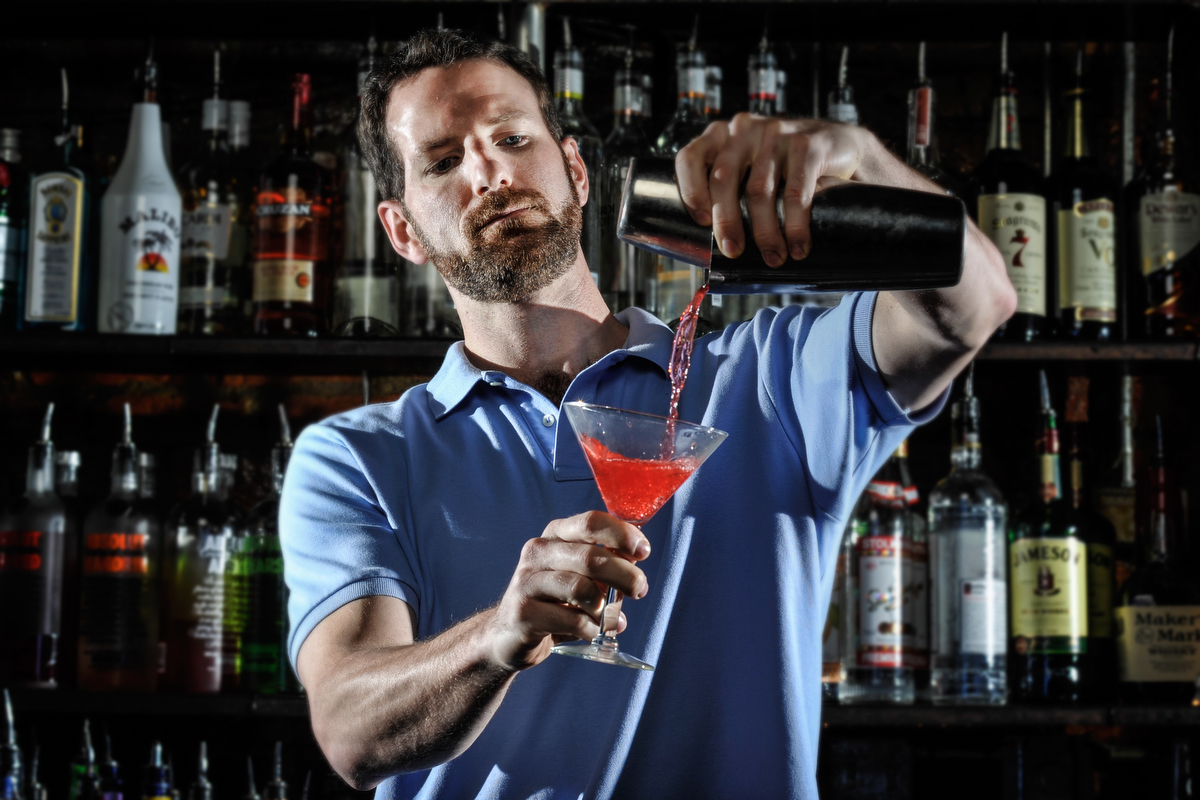 Bartender Josh Berry poses for a portrait at Allgood Lounge in Athens, Ga., Wednesday, April 3, 2013. (Photo/AJ Reynolds)