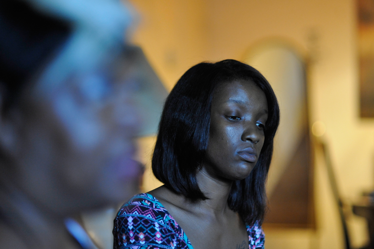 Shawn Burgess inside her apartment at Bethel Midtown Village on Wednesday, July 15, 2015 in Athens, Ga. (AJ Reynolds/Staff, @ajreynoldsphoto)