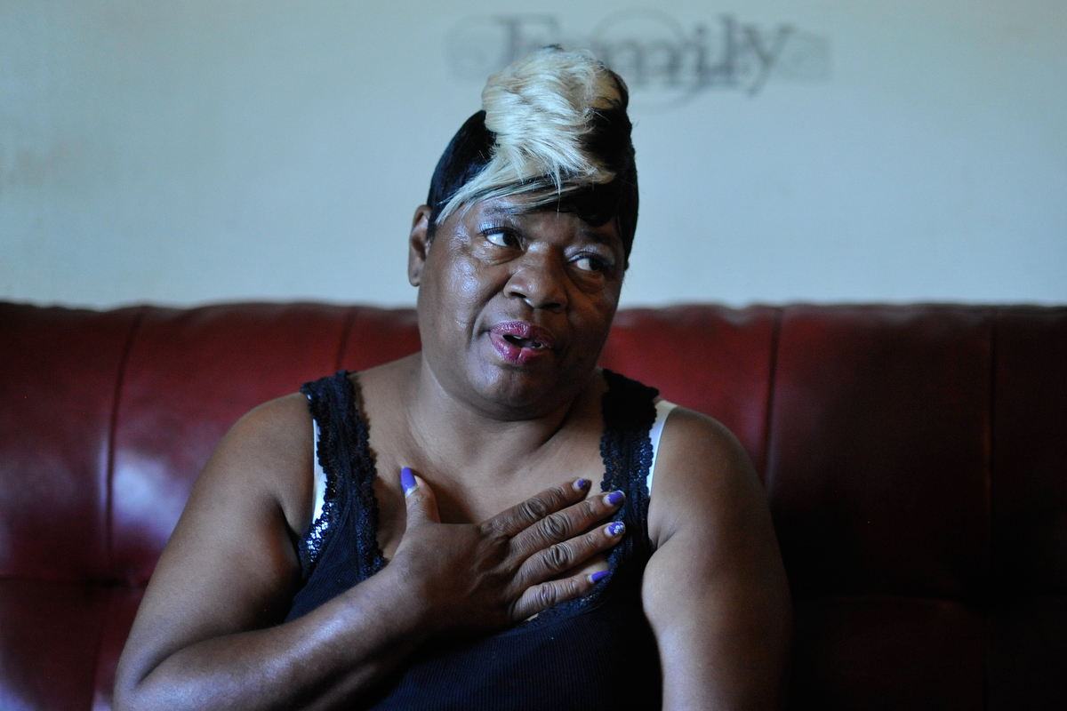Clara Gorden, a 25 year resident of Bethel Midtown Village, speaks inside the home of Shawn Burgess on Wednesday, July 15, 2015 in Athens, Ga. (AJ Reynolds/Staff, @ajreynoldsphoto)