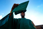 Antonio Rittenberry, a three time high school dropout, poses for a portrait outside Classic City High School in Athens, Ga., Friday, December 16, 2011. Rittenberry graduated the following day and will attend Athens Tech. (AJ Reynolds/The Athens Banner-Herald)