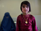 A young woman waits for an appointment at the French Medical Institute for Children in Kabul, Afghanistan on June 20, 2010. As well as offering some of the most advanced technology, the hospital offers advanced care for young women in Kabul.