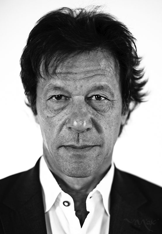 ISLAMABAD, PAKISTAN. Imran Khan, chairman of Pakistan Tehreek-e-Insaf, poses for a photograph at his home in Islamabad, Pakistan, on Monday, November 05, 2012. Khan, the former Pakistani cricket captain and now the country's rising political star, is gaining support by criticizing the U.S. drone attacks in Pakistan and promoting conservative values.