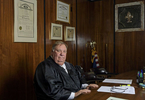 Portraits included in non-unanimous jury project that was awarded the 2019 Pulitzer Prize for Local Reporting. Orleans Parish Criminal District Judge Paul Bonin is pictured in his chambers in New Orleans, La., Friday, April 20, 2018. Judge Bonin presided over one of the first 10-2 convictions challenged to a mistrial after the U.S. Supreme Court decided to reconsider nearly a half-century of precedent allowing split-jury verdicts.