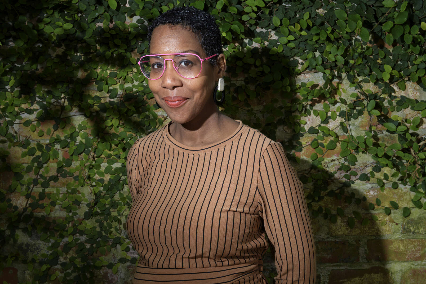 New Orleans African American Museum Executive Director Gia Hamilton stands for a portrait in New Orleans, La. Wednesday, April 3, 2019.