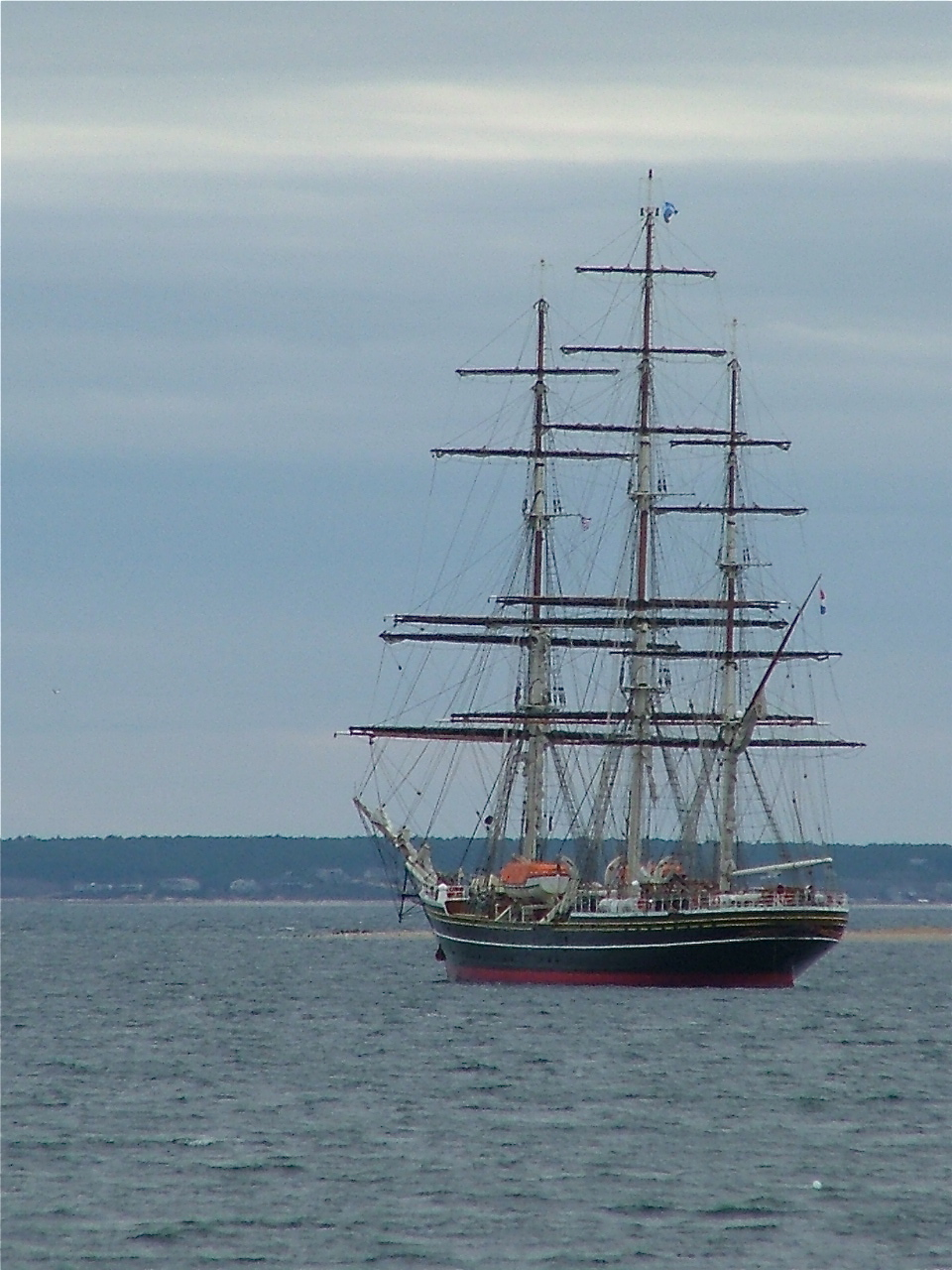 Tall ship visits in summer