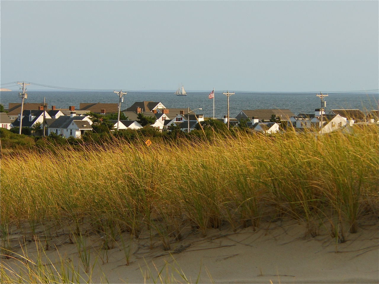 View of Beach Point in autumn