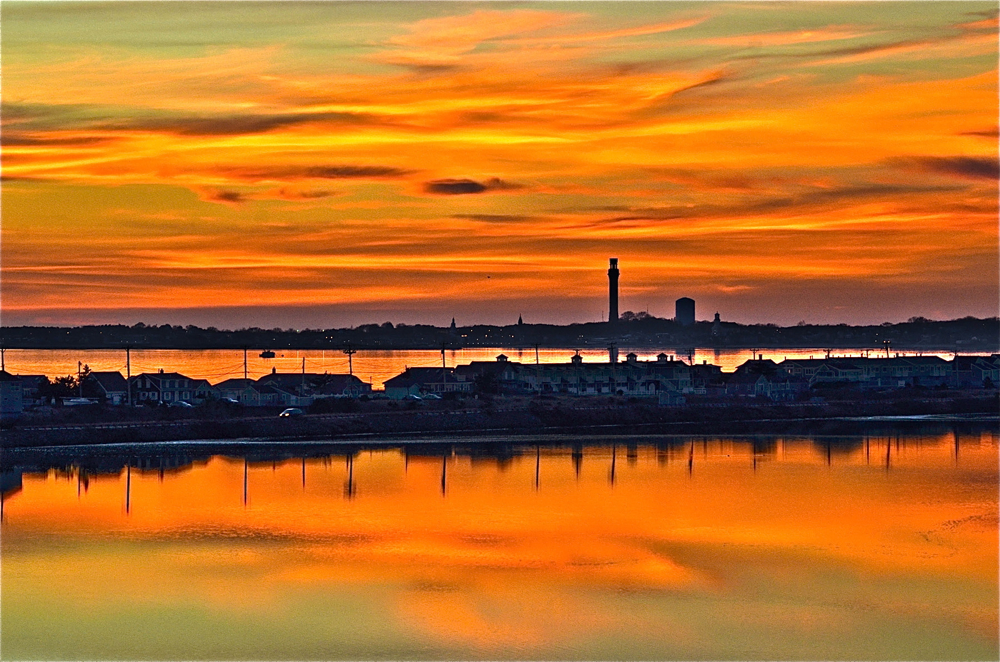 Sunset over Provincetown (photo by Nancy Bloom)
