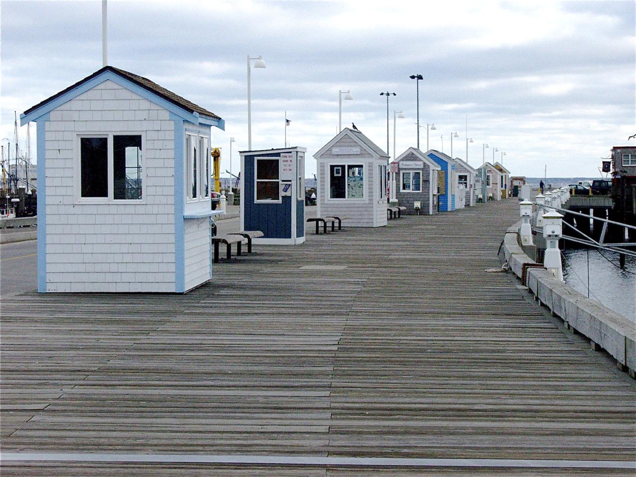 Trapsheds at MacMillan Pier