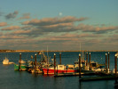 Full moon over Provincetown Harbor