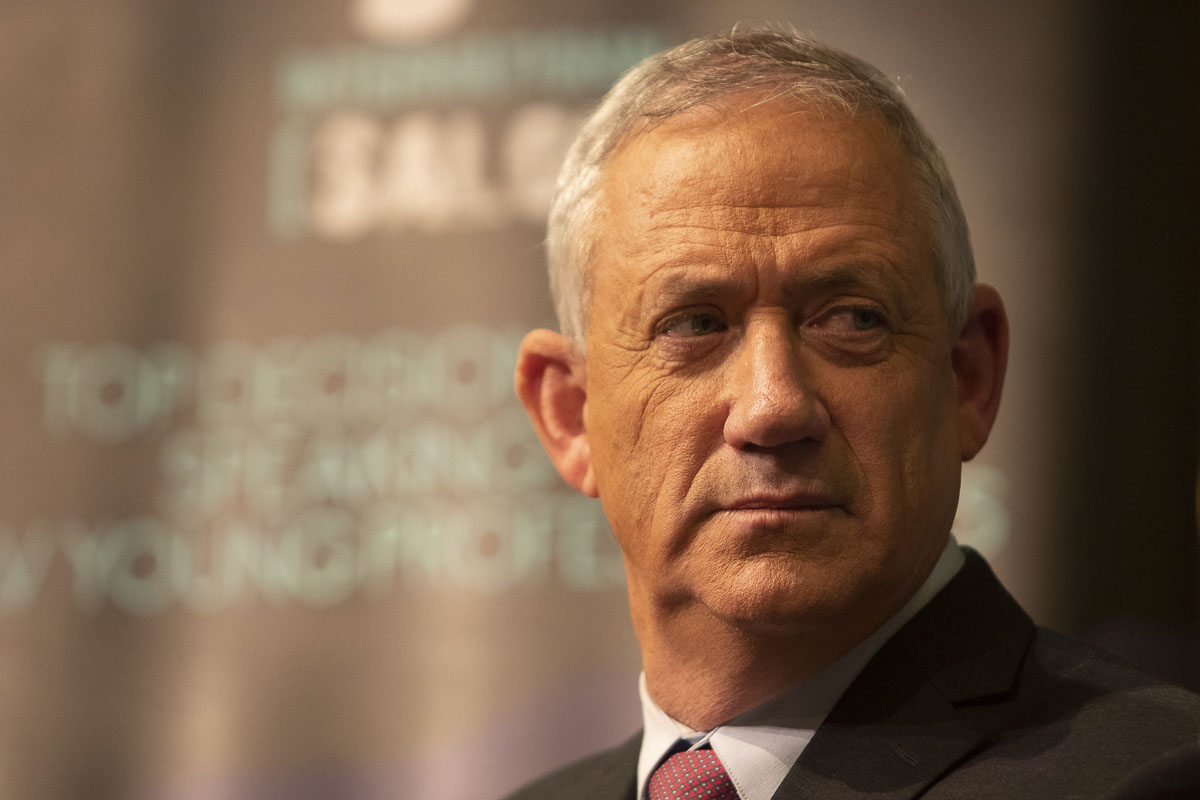 Blue & White Prime Minister CandidateLt. General  Benny Gantz speak in front of international journalists in Tel Aviv on April 2nd, Israel