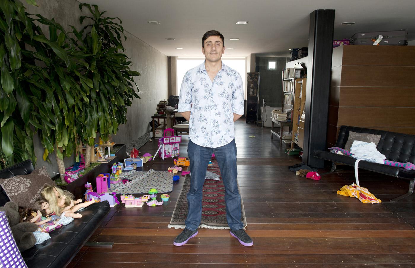 Filmmaker Lorenzo Shapiro at his apartment in the Condesa neighborhood, Mexico City.