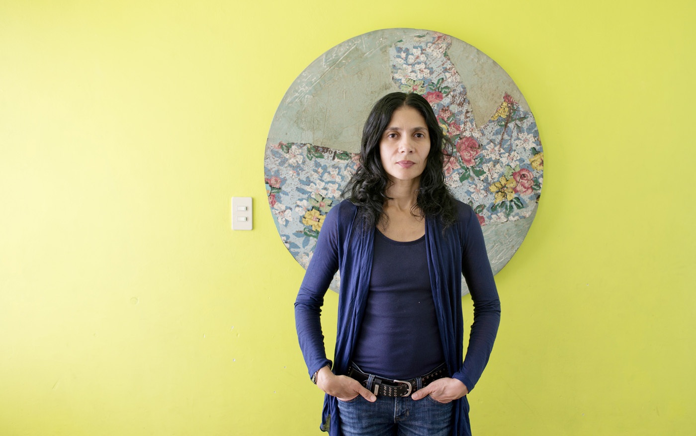 Graphic designer and publisher Rocio Mireles at her house in condesa,  Mexico City