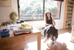 Museum director and photography curator Estela Treviño in her house in San Angel in Mexico City.