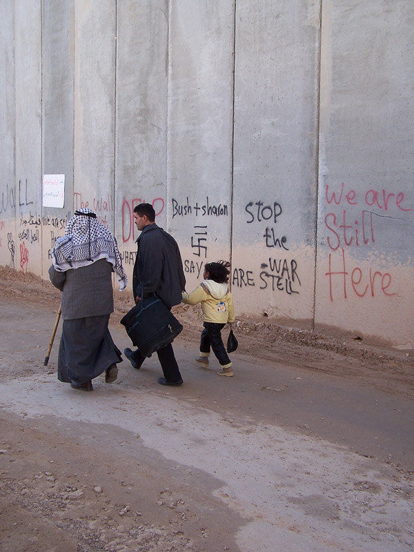 Abu Dis, a Jerusalem suburb, is separated from Jerusalem by a 26 ft concrete wall. It snakes in and out separating houses, and families.