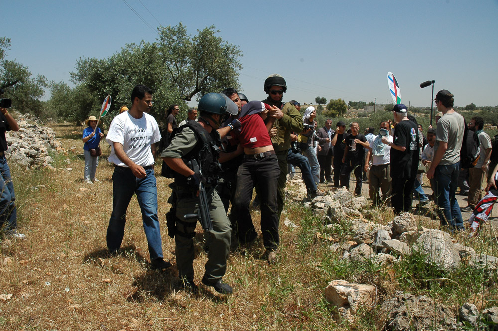 Demonstration against the construciton of the wall.