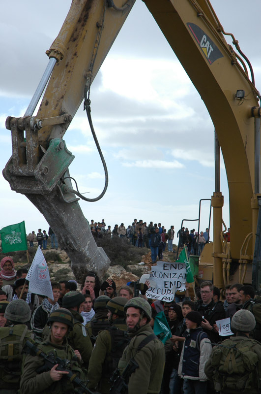 Demonstration against the construction of the wall.