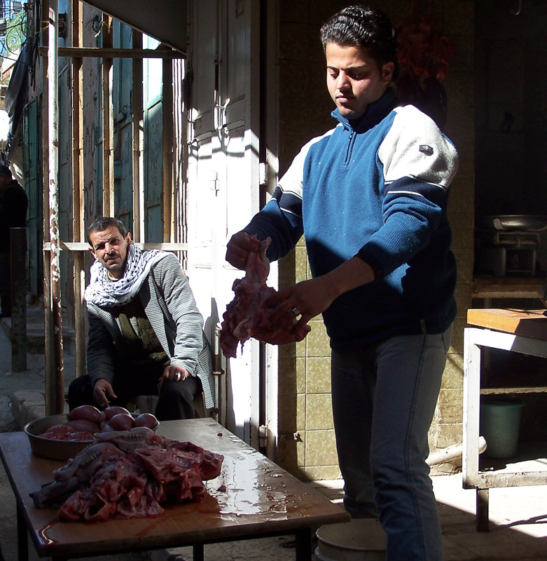 Butcher in Hebron