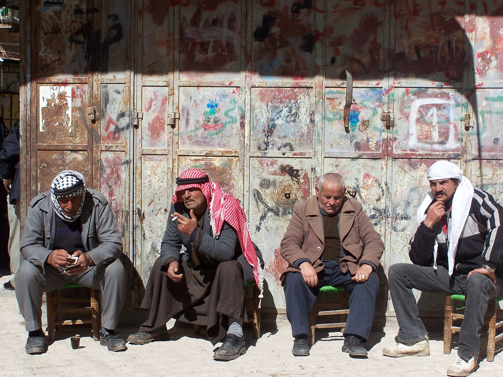 Old men in Hebron