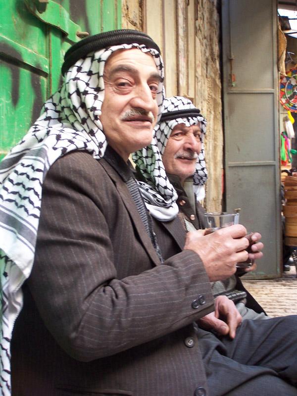 Old men in Hebron