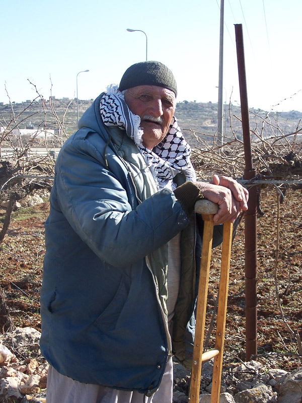 Elderly man in Hebron