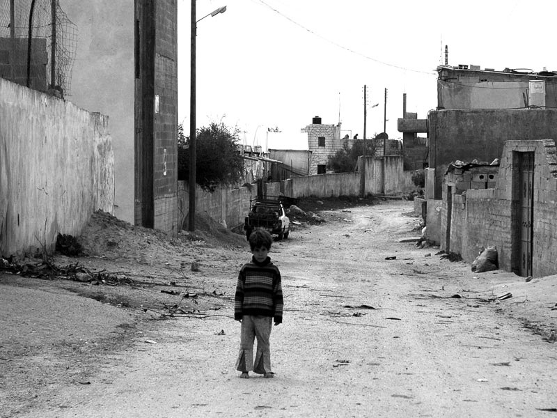 Boy in the streets of Deir Ballut