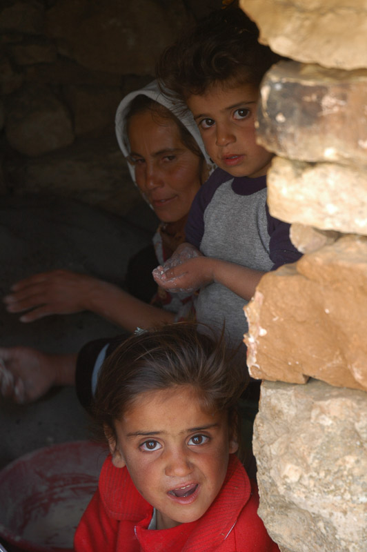 Family in Qawawis in the Hebron Hills