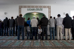 Ahmadis praying in the Khadija mosque in Berlin