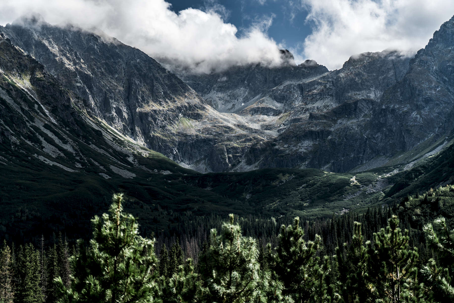 A part of the High Tatras mountains in Poland