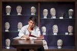 Student studying medicine at Edinburgh University by the phrenology heads