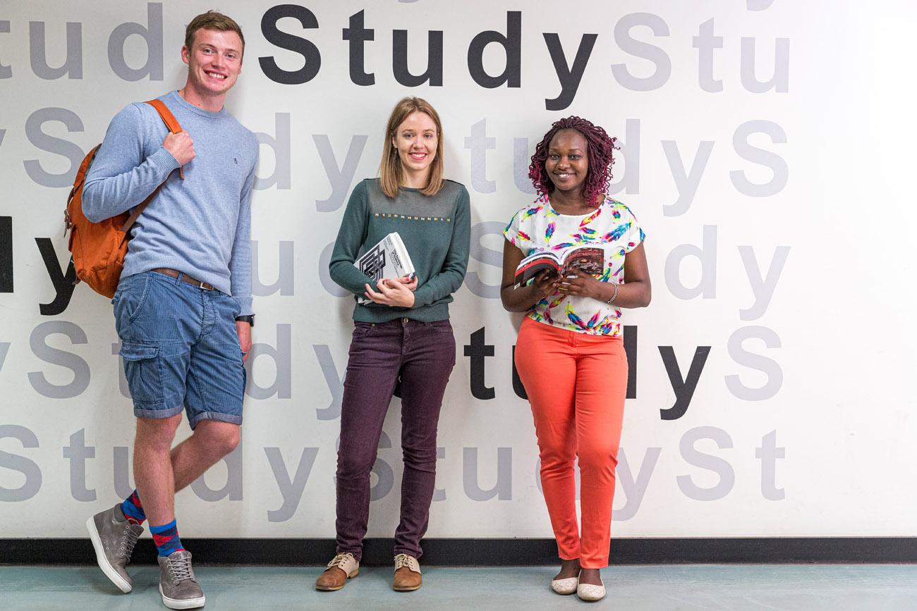 group of Students studying at Edinburgh University.