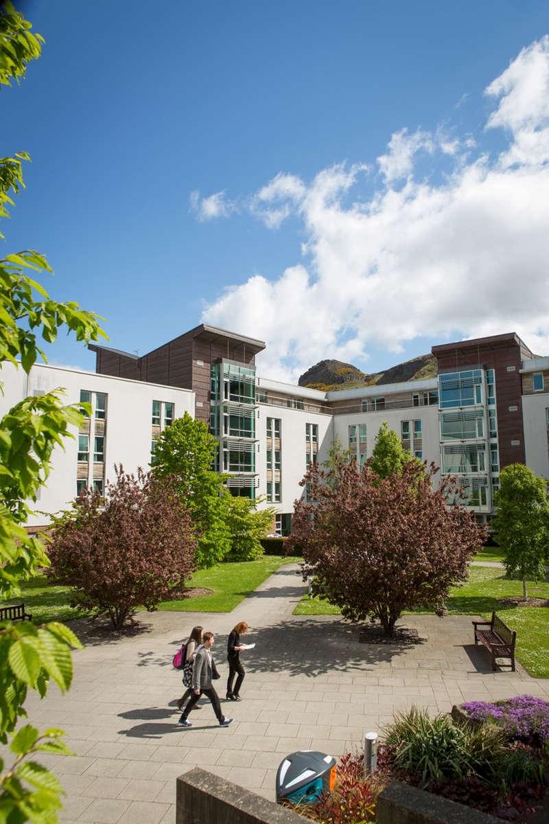 Students studying at Edinburgh University at the halls of residence.