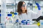 Students studying at Edinburgh University in a laboratory