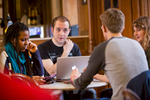 Students studying at Edinburgh University.