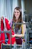 Student studying fashion at Edinburgh University.