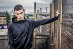 model wearing Tombo sportswear at SWG3 in Glasgow