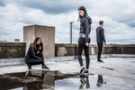 models wearing Tombo sportswear at SWG3 on the roof in Glasgow