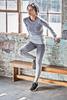 model wearing Tombo sportswear at Buscuit factory in Edinburgh
