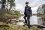 Fashion photography for the Kinloch Anderson Highland wear range out in nature