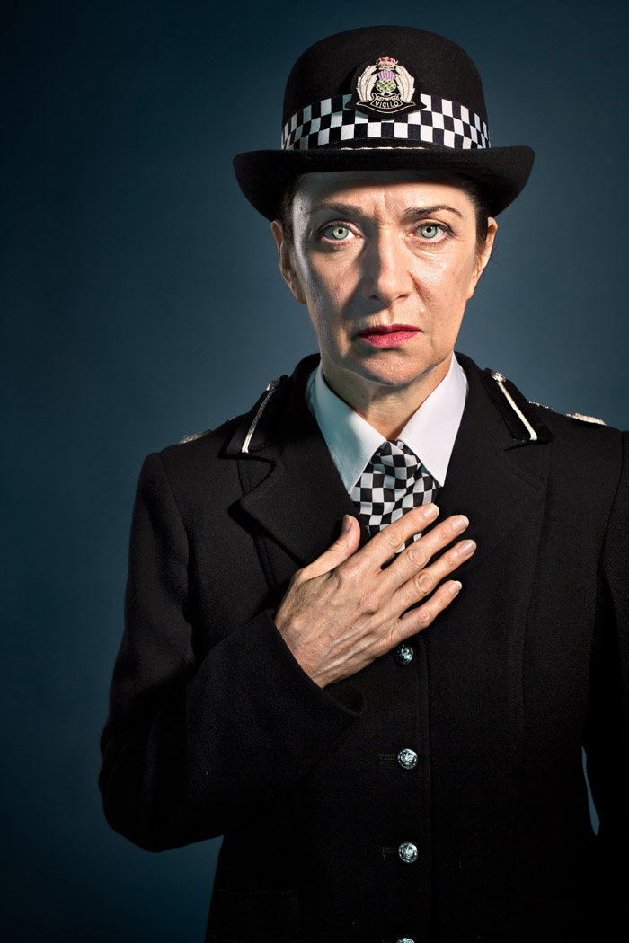 portrait of a police woman for Dark Road - Lyceum Theatre