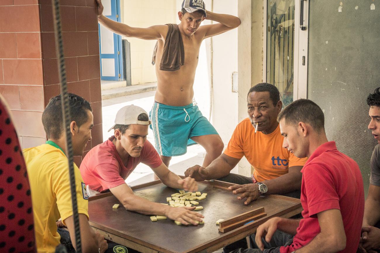 Havana Domino players
