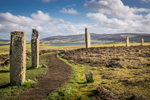 Historic Scotland  - ring of Brodgar on Orkney on a sunny day