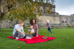 Historic Scotland  - Stirling Castle garden picnic with a family