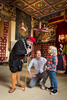 Historic Scotland  - family being shown around Stirling Castle bedroom by a guide in period dress
