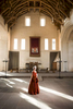 Historic Scotland  - Stirling Castle great hall with a woman in period dress