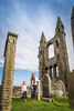 Historic Scotland  - St Andrews Cathederal with a mother and daughter